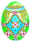 XM416SKU Lee's Needle Arts  Faberge Egg Hand-Painted Canvas 3in x 4in, 18m