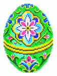 XM448SKU Lee's Needle Arts Faberge Egg Hand-Painted Canvas 3in x 4in, 18m