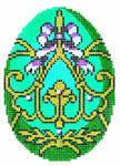XM453SKU Lee's Needle Arts Faberge Egg Hand-Painted Canvas 3in x 4in, 18m