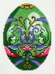 XM489SKU Lee's Needle Arts Faberge Egg Hand-Painted Canvas 3in x 4in, 18m