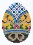 XM420SKU Lee's Needle Arts Faberge Egg Hand-Painted Canvas 3in x 4in, 18m