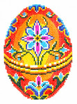 XM472SKU Lee's Needle Arts Faberge Egg Hand-Painted Canvas 3in x 4in, 18m
