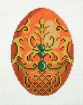 XM498SKU Lee's Needle Arts Faberge Egg Hand-Painted Canvas 3in x 4in, 18m