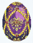 XM405SKU Lee's Needle Arts Faberge Egg Hand-Painted Canvas 3in x 4in, 18m