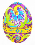 XM415SKU Lee's Needle Arts Faberge Egg Hand-Painted Canvas 3in x 4in, 18m