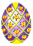 XM471SKU Lee's Needle Arts Faberge Egg Hand-Painted Canvas 3in x 4in, 18m