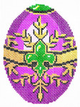 XM474SKU Lee's Needle Arts Faberge Egg Hand-Painted Canvas 3in x 4in, 18m