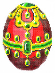 XM445SKU Lee's Needle Arts Faberge Egg Hand-Painted Canvas 3in x 4in, 18m