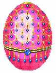 XM457SKU Lee's Needle Arts Faberge Egg Hand-Painted Canvas 3in x 4in, 18m