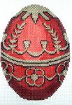 XM500SKU Lee's Needle Arts Faberge Egg Hand-Painted Canvas 3in x 4in, 18m