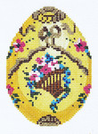 XM410SKU Lee's Needle Arts Faberge Egg Hand-Painted Canvas 3in x 4in, 18m