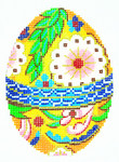 XM417SKU Lee's Needle Arts Faberge Egg Hand-Painted Canvas 3in x 4in, 18m