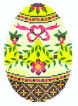 XM438SKU Lee's Needle Arts Faberge Egg Hand-Painted Canvas 3in x 4in, 18m