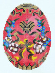 XM403SKU Lee's Needle Arts Faberge Egg Hand-Painted Canvas 3in x 4in, 18m
