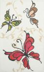 BD97SKU Lee's Needle Arts Butterflies Hand-painted canvas - 18 Mesh 2012 5.25in x 3.25in