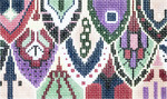 BD06SKU Lee's Needle Arts Fish Scale Hand-painted canvas - 18 Mesh 5.25in. X 3.25in.