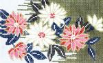 BD16SKU Lee's Needle Arts  Chrysanthemum Hand-painted canvas - 18 Mesh 5.25in. X 3.25in.