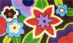 BD61SKU Lee's Needle Arts Mod Floral Hand-painted canvas - 18 Mesh 5.25in. X 3.25in.