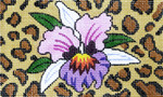 BD53SKU Lee's Needle Arts  Orchid/Animal Skin Hand-painted canvas - 18 Mesh 5.25in. X 3.25in.