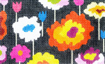 BD25SKU Lee's Needle Arts  Poppy Hand-painted canvas - 18 Mesh 5.25in. X 3.25in.