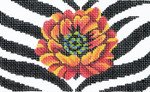 BD52 Lee's Needle Arts Poppy/Animal Skin Hand-painted canvas - 18 Mesh 5.25in. X 3.25in.