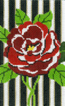 BD78 Lee's Needle Arts  Floral Rose Hand-painted canvas - 18 Mesh 2011 5.25in x 3.25in