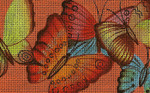 BD91SKU Lee's Needle Arts Flutterbyes - Leigh Design Exclusive  Hand-painted canvas - 18 Mesh 2011 5.25in x 3.25in