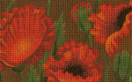 BD85SKU Lee's Needle Arts Poppy Fields - Leigh Design Exclusive  Hand-painted canvas - 18 Mesh 2011 5.25in x 3.25in