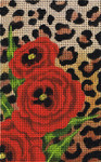 BD101SKU Lee's Needle Arts Spotted Poppies - Leigh Design Exclusive  Hand-painted canvas - 18 Mesh 2012 5.25in x 3.25in