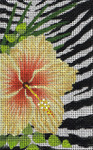 BD102SKU Lee's Needle Arts  Wild Hibiscus Leigh Design Exclusive  Hand-painted canvas - 18 Mesh 2012 5.25in x 3.25in