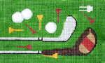 BD58SKU Lee's Needle Arts Golf Hand-painted canvas - 18 Mesh 5.25in. X 3.25in.