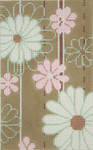 BD93SKU Lee's Needle Arts Tan Floral Hand-painted canvas - 18 Mesh 2012 5.25in x 3.25in