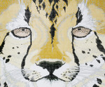 P942-W Lee's Needle Arts Cheetah Face Hand Painted Canvas - 12 Mesh 18in x 15in