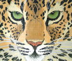 P947-W Lee's Needle Arts Leopard Face Hand Painted Canvas - 12 Mesh 18in x 15in