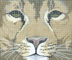 P940-W Lee's Needle Arts Lion Face Hand Painted Canvas - 12 Mesh 18in x 15in