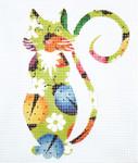AO1312SKU Lee's Needle Arts Ladybug Cat 18M 5.5in. x 6.5in.