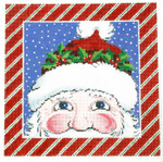 AO1293SKU Lee's Needle Arts Santa Hand-painted canvas - 16 Mesh 8in. x 8in