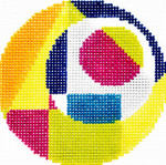 BJ55SKU Lee's Needle Arts Geometric Hand-painted canvas - 18 Mesh 3in. ROUND