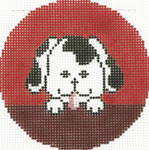 BJ178 Lee's Needle Arts  Spot Hand-painted canvas - 18 Mesh 3in. Round