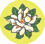 BJ153 Lee's Needle Arts Magnolia Hand-painted canvas - 18 Mesh 3in. ROUND