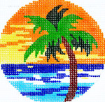BJ70SKU Lee's Needle Arts Palm Hand-painted canvas - 18 Mesh 3in. ROUND