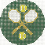 BJ160SKU Lee's Needle Arts Tennis Hand-painted canvas - 18 Mesh 3in. Round