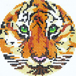BJ22 Lee's Needle Arts Cub Hand-painted canvas - 18 Mesh 3in. ROUND