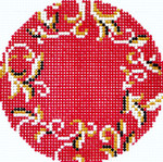 BJ58SKU Lee's Needle Arts Toile Hand-painted canvas - 18 Mesh 3in. ROUND