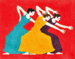 BF56SKU Lee's Needle Arts Dancers Hand-painted canvas - 18 Mesh 10.25in. X 8.25in.