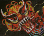 BF70SKU Lee's Needle Arts Year Of The Dragon - Leigh Design Exclusive  Hand-painted canvas - 13 Mesh 2011 10.25in x 8.25in