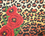 BF79SKU Lee's Needle Arts Spotted Poppies, Leigh Design Exclusive 13 10.25in. x 8.25in.