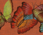 BF75SKU Lee's Needle Arts Flutterbyes - Leigh Design Exclusive Hand-painted canvas - 13 Mesh 2011 10.25in x 8.25in