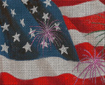 BF72SKU Lee's Needle Arts Independence Day - Leigh Design Exclusive  Hand-painted canvas - 13 Mesh 2011 10.25in x 8.25in