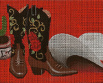 BF71SKU Lee's Needle Arts Western Pleasure - Leigh Design Exclusive Hand-painted canvas - 13 Mesh 2011 10.25in x 8.25in